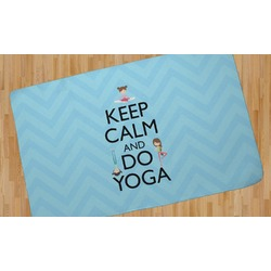 Keep Calm & Do Yoga Area Rug