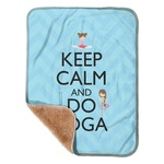 "Keep Calm & Do Yoga Sherpa Baby Blanket 30"" x 40"""