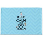 Keep Calm & Do Yoga Woven Mat