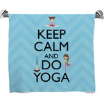 Keep Calm & Do Yoga Full Print Bath Towel
