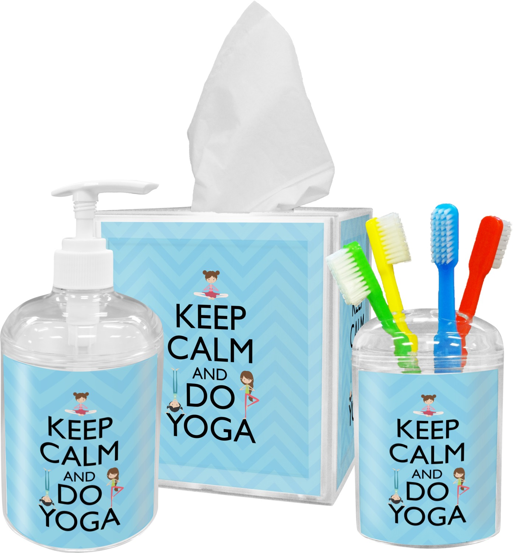 Keep Calm & Do Yoga Bathroom Accessories Set - YouCustomizeIt