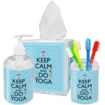 Keep Calm & Do Yoga Bathroom Accessories Set