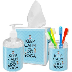 Keep Calm & Do Yoga Bathroom Accessories Set
