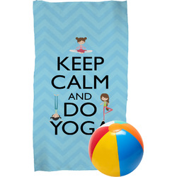 Keep Calm & Do Yoga Beach Towel