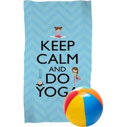 Keep Calm & Do Yoga Beach Towel