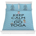 Keep Calm & Do Yoga Comforters