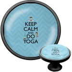 Keep Calm & Do Yoga Cabinet Knob (Black)