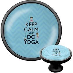 Keep Calm & Do Yoga Cabinet Knob (Black)