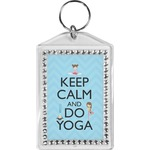 Keep Calm & Do Yoga Bling Keychain