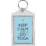 Keep Calm & Do Yoga Bling Keychain