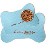 Keep Calm & Do Yoga Bone Shaped Dog Food Mat