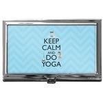Keep Calm & Do Yoga Business Card Case