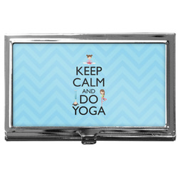 Keep Calm & Do Yoga Business Card Case