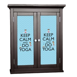 Keep Calm & Do Yoga Cabinet Decal - Custom Size