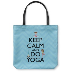 Keep Calm & Do Yoga Canvas Tote Bag