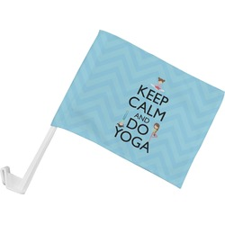 Keep Calm & Do Yoga Car Flag