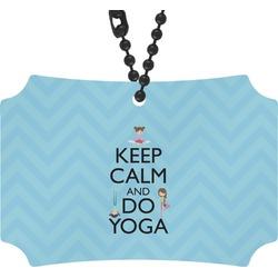 Keep Calm & Do Yoga Rear View Mirror Ornament