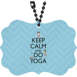 Keep Calm & Do Yoga Rear View Mirror Charm