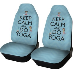 Keep Calm & Do Yoga Car Seat Covers (Set of Two)