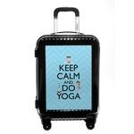 Keep Calm & Do Yoga Carry On Hard Shell Suitcase