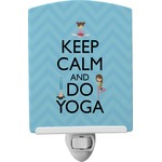 Keep Calm & Do Yoga Ceramic Night Light