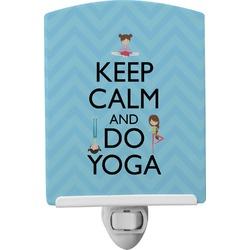 Keep Calm & Do Yoga Ceramic Night Light