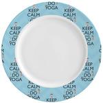 Keep Calm & Do Yoga Ceramic Dinner Plates (Set of 4)