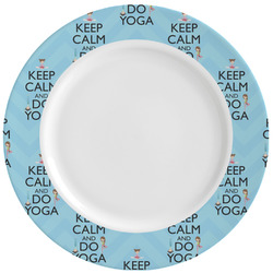 Keep Calm & Do Yoga Ceramic Dinner Plates (Set of 4)