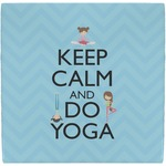 Keep Calm & Do Yoga Ceramic Tile Hot Pad