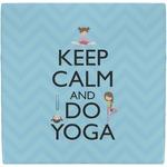 Keep Calm & Do Yoga Ceramic Tile Hot Pad