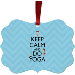 Keep Calm & Do Yoga Ornament