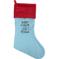Keep Calm & Do Yoga Christmas Stocking