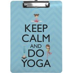 Keep Calm & Do Yoga Clipboard