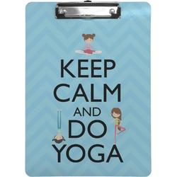 Keep Calm & Do Yoga Clipboard