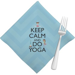 Keep Calm & Do Yoga Cloth Napkins (Set of 4)