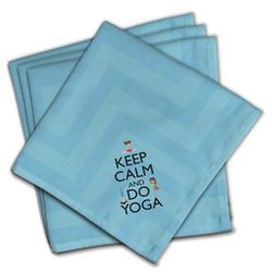 Keep Calm & Do Yoga Cloth Napkins (Set of 4)