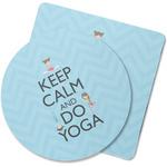 Keep Calm & Do Yoga Rubber Backed Coaster