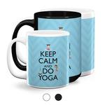 Keep Calm & Do Yoga Coffee Mugs