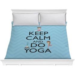 Keep Calm & Do Yoga Comforter - King