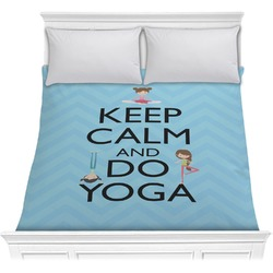 Keep Calm & Do Yoga Comforter