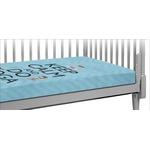 Keep Calm & Do Yoga Crib Fitted Sheet