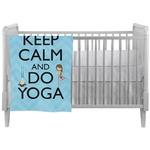Keep Calm & Do Yoga Crib Comforter / Quilt