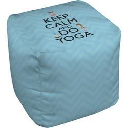 Keep Calm & Do Yoga Cube Pouf Ottoman