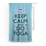 Keep Calm & Do Yoga Curtain