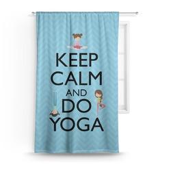 Keep Calm & Do Yoga Curtain