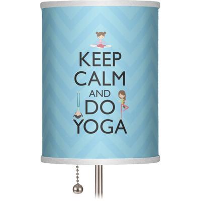 """Keep Calm & Do Yoga 7"""" Drum Lamp Shade"""