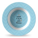 Keep Calm & Do Yoga Plastic Bowl - Microwave Safe - Composite Polymer