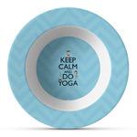 Keep Calm & Do Yoga Plastic Bowl - Microwave Safe - Composite Polymer