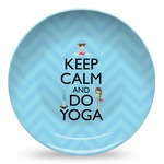 Keep Calm & Do Yoga Microwave Safe Plastic Plate - Composite Polymer