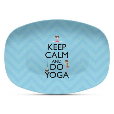 Keep Calm & Do Yoga Plastic Platter - Microwave & Oven Safe Composite Polymer